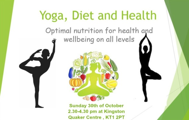nutrition workshop on yoga , diet and health in kingston upon themes