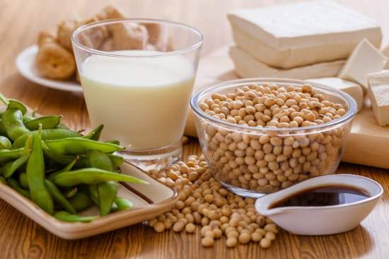complete protein in soybeans and soy products for vegans and vegetarians