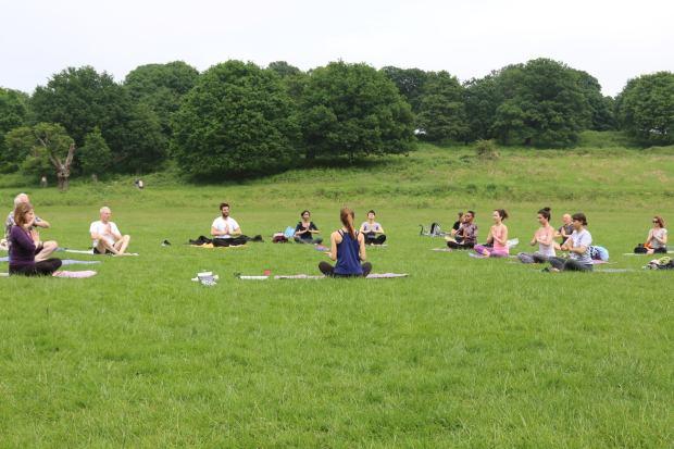 yoga in richmond park